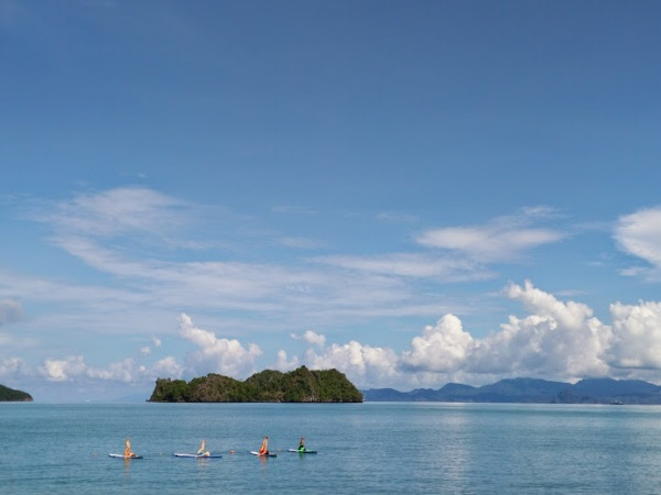 Finding balance with SUP (stand up paddleboard) yoga in Langkawi, Malaysia